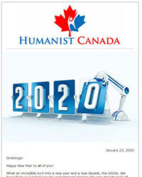 January 2020 Humanist Canada Newsletter