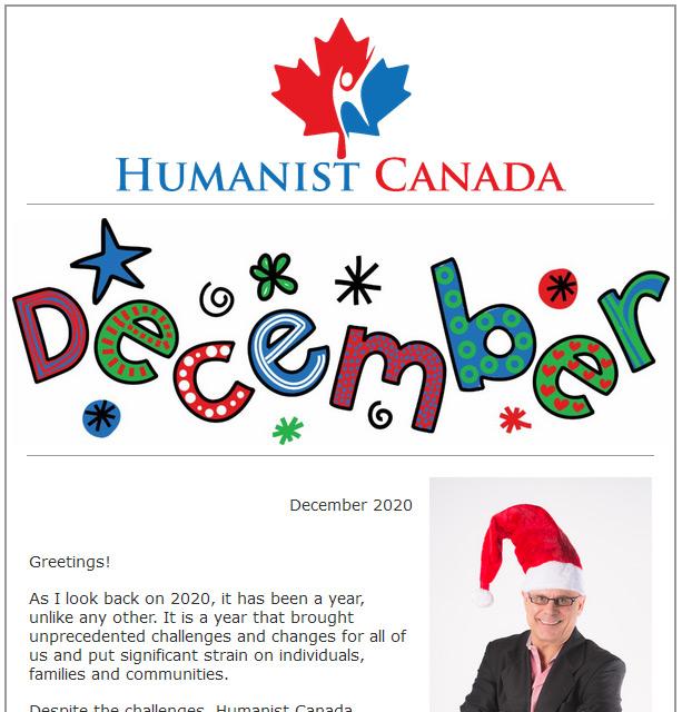 Humanist Canada Newsletter - December 2020