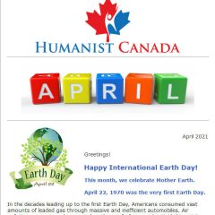 Humanist Canada Newsletter - April-2021