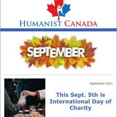 Humanist Canada Newsletter - September 2021